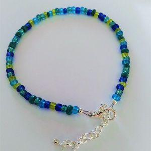 Beaded Glass Ankle Bracelet